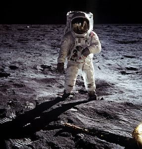 Buzz Aldrin on the surface of the Moon shortly after taking communion in the Eagle. Imagine, getting your picture taken by Neil Armstrong, the first man on the moon, FROM THE SURFACE OF THE MOON! How cool is that?