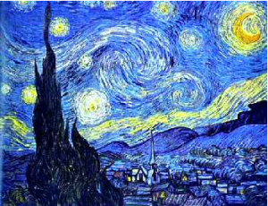 """Starry Night"" by Vincent Van Gogh, 1889."