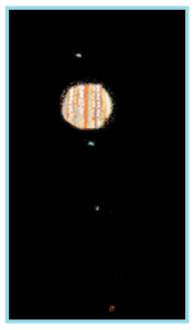My first astronomical sketch. Jupiter through the lens of my new telescope.