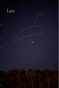 The constellation of Leo. Image Wikipedia