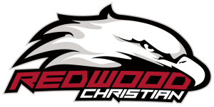 2014 Redwood Christian Red with Black Outline